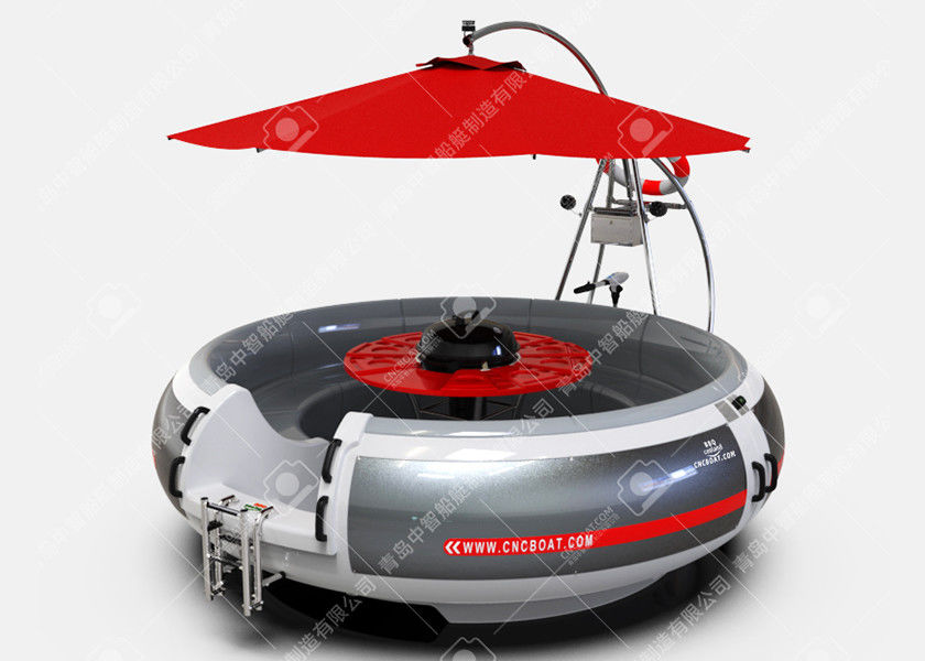 10 Person BBQ Boat Electric BBQ Donut Boat Leisure Barbecue Boat For Sale With Rgb Led Lights
